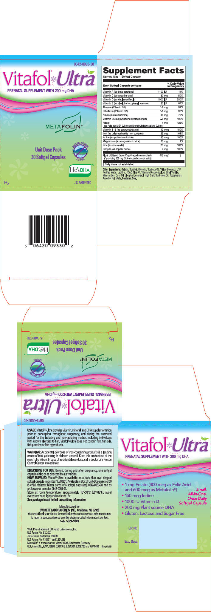 '.Vitafol-Ultra 29 1 200Mg Cap 30 By Exelt.'