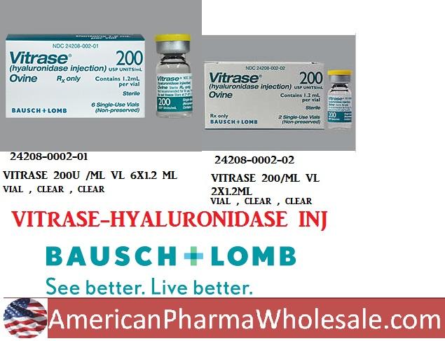 RX ITEM-Vitrase 200 Ml Vial 2X1.2Ml By Valeant Pharma