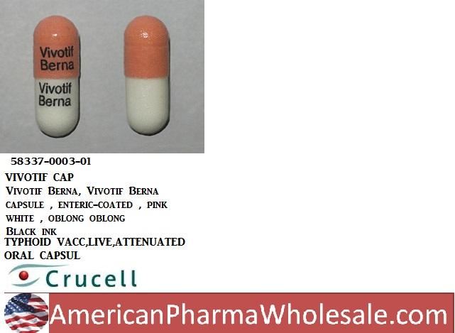 RX ITEM-Vivotif 2B Unit Cap 4 By Crucell Vaccines