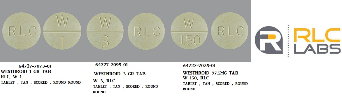 RX ITEM-Westhroid 130Mg Tab 100 By Rlc Labs
