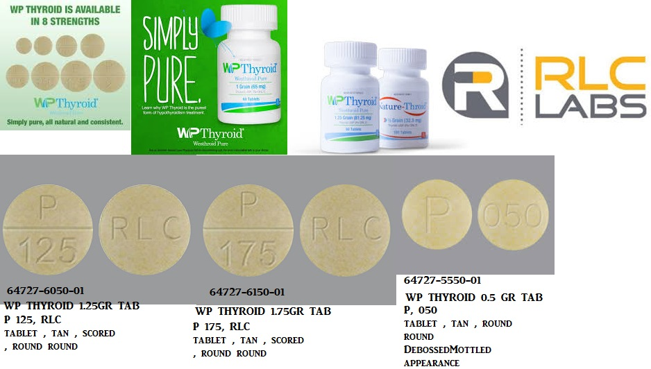 RX ITEM-Wp Thyroid 113.75Mg Tab 100 By Rlc Labs