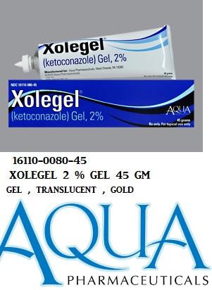 RX ITEM-Xolegel 2% Gel 45Gm By Aqua Pharma
