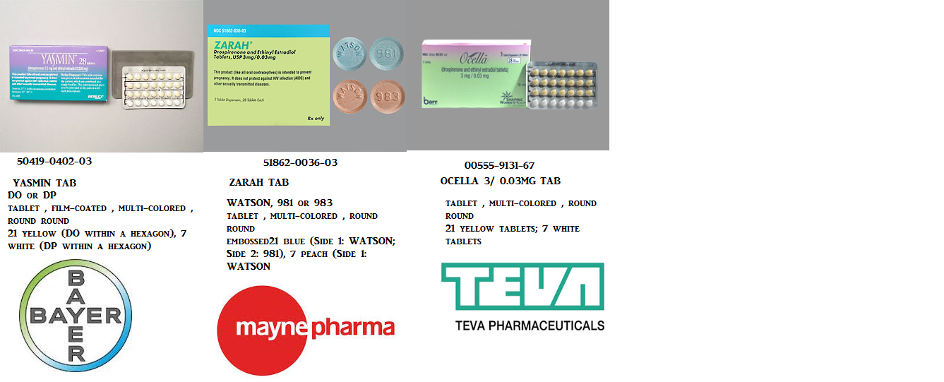 RX ITEM-Yasmin 0.03Mg 3Mg Tab 3X28 By Bayer Pharma