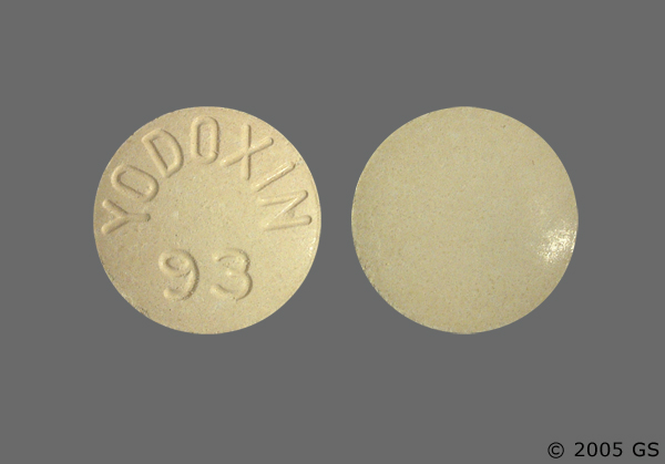 RX ITEM-Yodoxin 650Mg Tab 100 By Glenwood