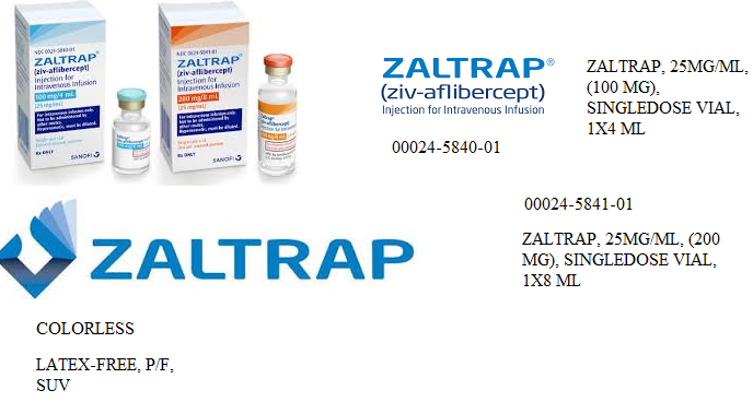 RX ITEM-Zaltrap 25Mg/Ml 100Mg 4Ml Vial 4Ml By Aventis-Sanofi Healthcare