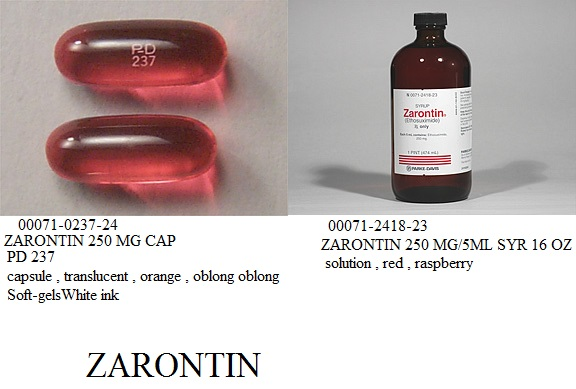 RX ITEM-Zarontin 250Mg Cap 100 By Pfizer Pharma