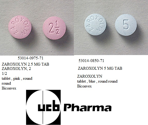 RX ITEM-Zaroxolyn 5Mg Tab 100 By Ucb Pharma