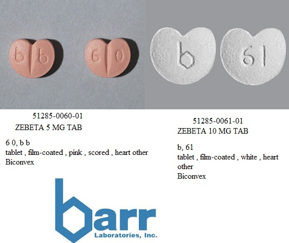 RX ITEM-Zebeta 10Mg Tab 30 By Teva Pharma