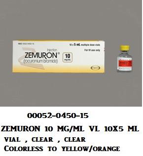 RX ITEM-Zemuron 10Mg/Ml Vial 10X10Ml By Merck