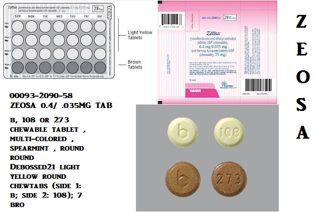 RX ITEM-Zeosa 0.4 35(21) Chewable  3X28 By Teva Pharma