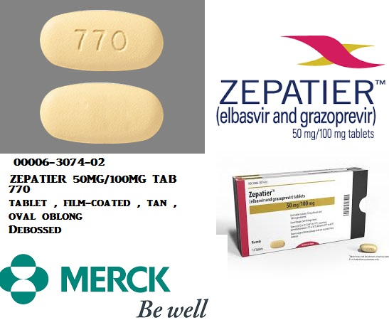 RX ITEM-Zepatier 50Mg 100Mg Tab 28 By Merck & Co.