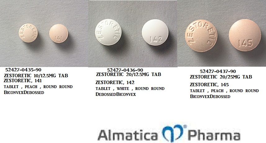 RX ITEM-Zestoretic 10 12.5Mg Tab 90 By Almatica Pharma