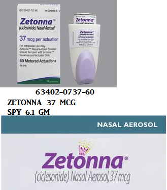 RX ITEM-Zetonna 37Mcg Inhaler 6.1Gm By Sunovion Pharma