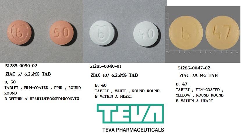 RX ITEM-Ziac 10/6.25Mg Tab 30 By Teva Pharma