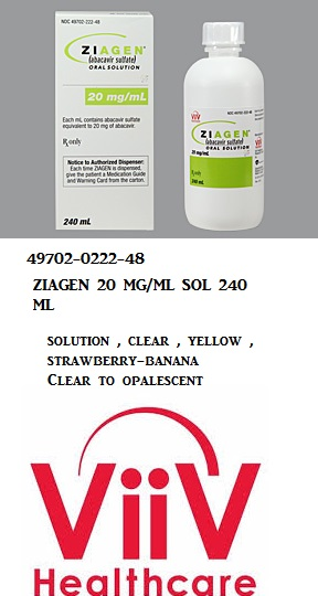 RX ITEM-Ziagen 20Mg/Ml Solution 240Ml By Viiv Healthcare