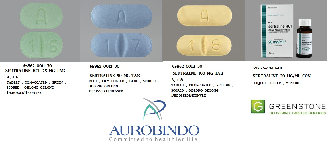 RX ITEM-Sertraline 100Mg Tab 30 By Aurobindo Pharma