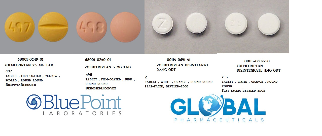 RX ITEM-Zolmitriptan 2.5Mg Tab 6 By Bluepoint Labs