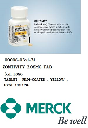 RX ITEM-Zontivity 2.08Mg Tab 100 By Merck