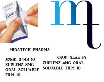 RX ITEM-Zuplenz 8Mg Flm 30 By Midlantic Pharma