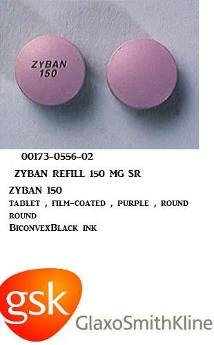 RX ITEM-Zyban Refill 150Mg Tab 60 By Glaxosmithkline Rx