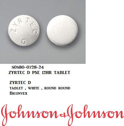 RX ITEM-Zyrtec D Otc 5Mg-120Mg Tab 12 By J&J Consumer-Pse