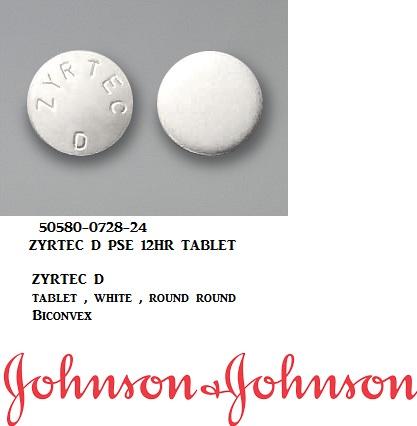 RX ITEM-Zyrtec D Otc 5Mg-120Mg Tab 24 By J&J Consumer-Pse