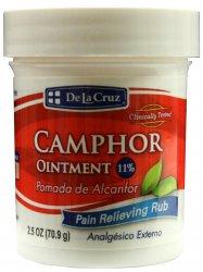 De La Cruz Camphor 11% Pain Relieving Ointment - 2.5 oz .