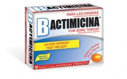 Bactimicina Throat Lozenges (Troches) 18 Count by DLC Lab case of 24