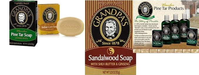 Grandpa Soap Bath & Shower Gel Pine Tar 8 Fz