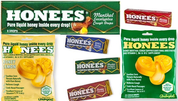 Honees Counter Display Cough Drop Hyn Lm Ct