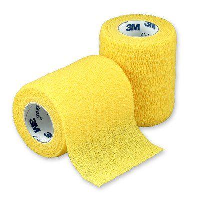 Coban 3 X 5 Yards Yellow Self Adh