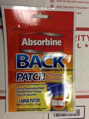 Absorbine Jr. Ultra Strength Pain Relief Patch 36 Count Box