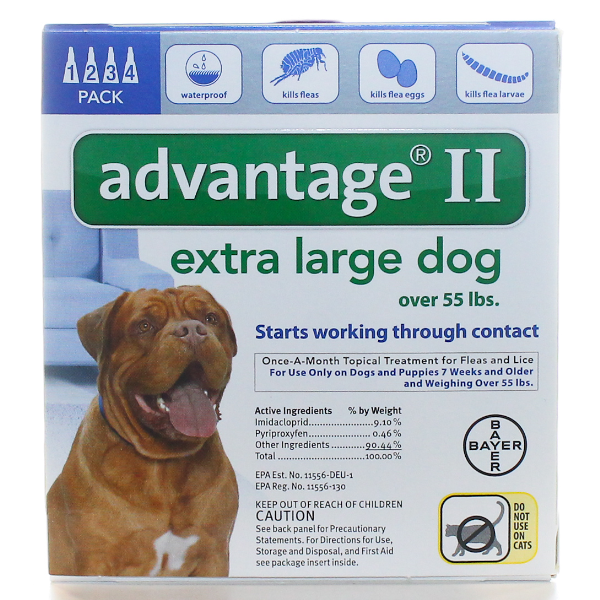 Advantage Dog 55+ Lb #4 OTC 4 Sl By Bayer Pet Otc(Vet)