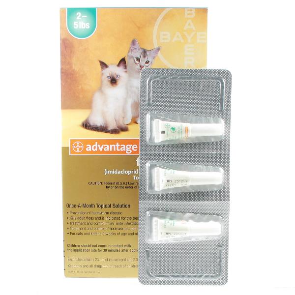 Advantage Multi Cat 2-5 #3 3 Sl By Bayer Pet Rx(Vet)