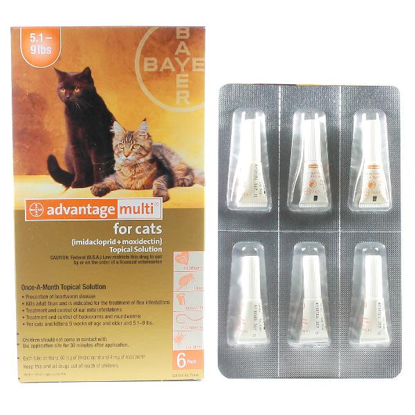 Advantage Multi Cat 5.1-9 6# 6 Sl By Bayer Pet Rx(Vet)