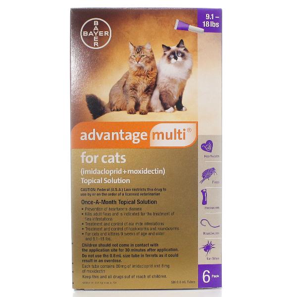 Advantage Multi Cat 9.1-18 6# 6 Sl By Bayer Pet Rx(Vet)