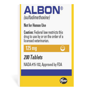 Albon (Sulfadimethoxine) 125mg 200 Tab By Zoetis Pet Rx(Vet)