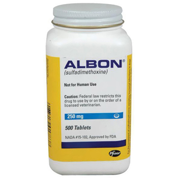 Albon 250mg 500 Tab By Zoetis Pet Rx(Vet)