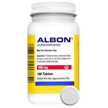 Albon 500mg 100 Tab By Zoetis Pet Rx(Vet)