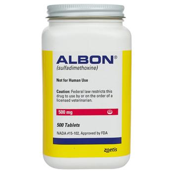 Albon 500mg 500 Tab By Zoetis Pet Rx(Vet)