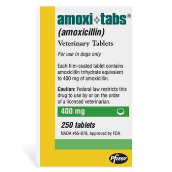 Amoxi 400mg 250 Tab By Zoetis Pet Rx(Vet) B250