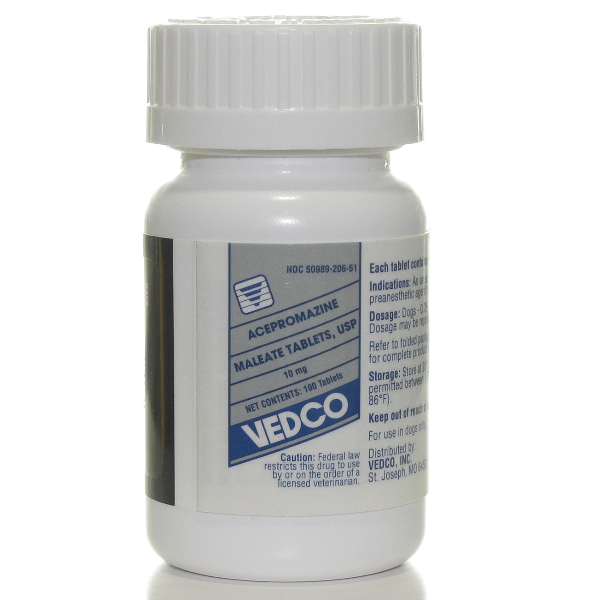 Acepromazine Tablets 10mg 100# 100 Tab By Vedco Pet Rx(Vet)