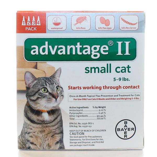 Advantage Cat 5-9 Lb #4 OTC 4 Sl By Bayer Pet Otc(Vet)