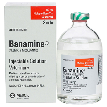 Banamine 50mg Injectable Sol 100ml Liquid By Merck Pet Rx(Vet)