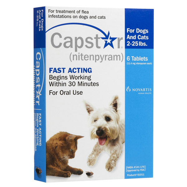 Capstar Blu Cat/Small Dog OTC 6 Tab By Novartis Pet Otc(Vet)
