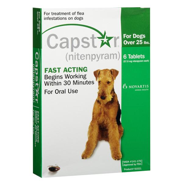 Capstar Granules Dog 25+ Lbs OTC 6 Tab By Novartis Pet Otc(Vet)