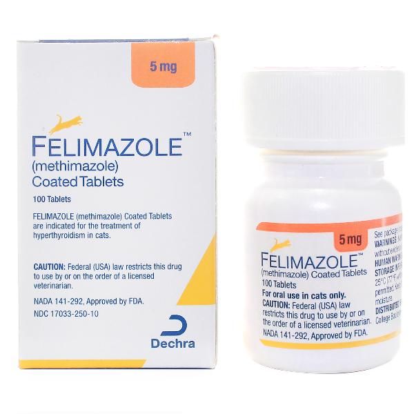 Felimazole Tablets 5mg 100# 100 Tab By Dechra Pet Rx(Vet)