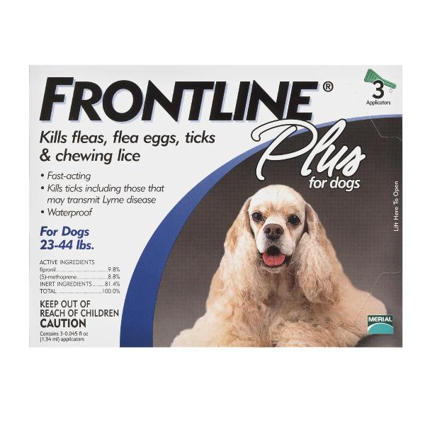 Frontline Plus 3Mos Medium Dog OTC 3 Sl By Merial Pet Otc(Vet)