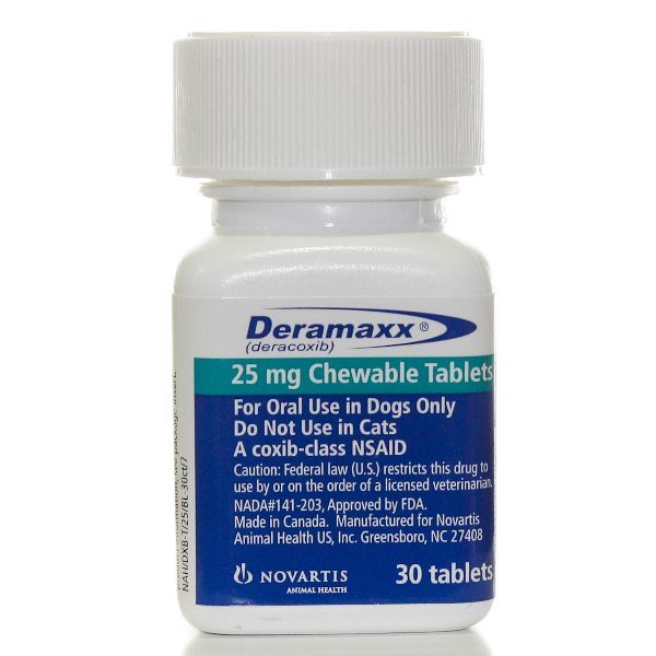 Deramaxx Tabs 25mg 30# 30 Tab By Novartis Pet Rx(Vet)