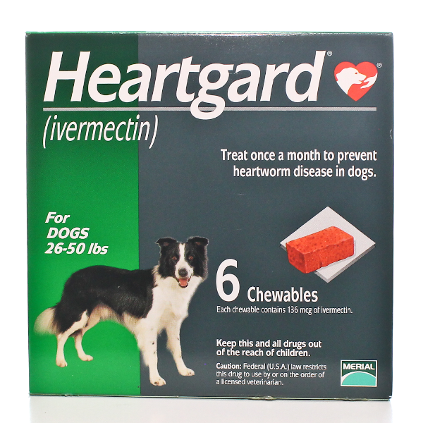 Heartgard Chewable 26-50 #6 6 Tab By Merial Pet Rx(Vet)